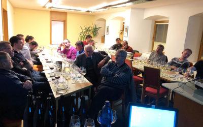 Přednáška předsedy spolku Velká vína velkých vinic pro členy vinařského spolku v Moravské Nové Vsi